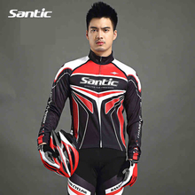 Santic Bike Bicycle Windproof Full Long Sleeve Jersey MTB ciclismo Cycling Outdoor Sport Breathable Quick Dry Jerseys Clothing