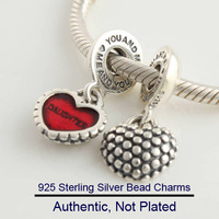Fits For Pandora Bracelets Mother and Daughter Charms 100% Sterling Silver Beads Free Shipping