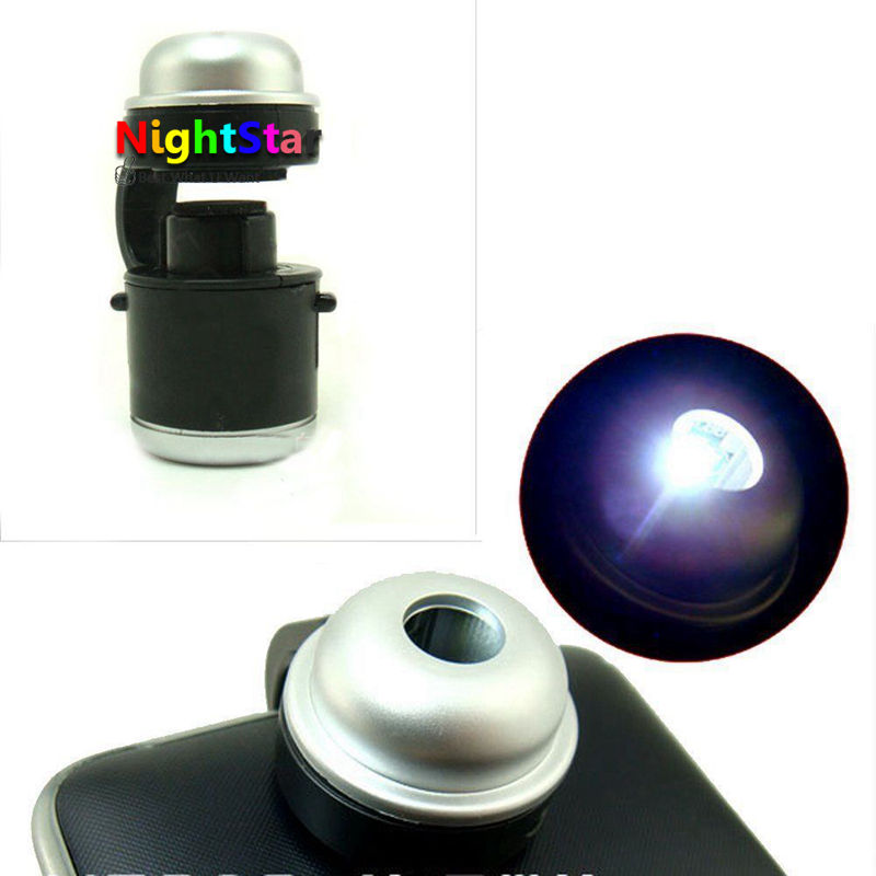 Cellular Microscope Science Investigate 30X Magnification with LED Lights for phone samsung xiaomi phone6 6s