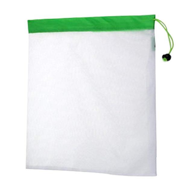 DCOS 5PCS/Set Polyester Washable Reusable Produce Bags, Eco-friendly Soft Premium Lightweight Vegetable Drawstring Storage Net 2