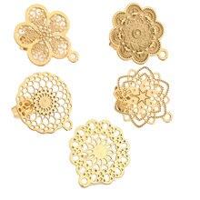 10 шт 304 полые серьги из нержавеющей стали, серьги-гвоздики с петлей, серьга в виде золотого цветка, опорные Столбы, компоненты для сережек своими руками