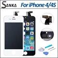 10 шт./лот + + Замена для iPhone 4 4S 4GSM ЖК-Дисплей С Сенсорным Экраном Дигитайзер Ассамблеи & Бесплатные Инструменты DHL доставка