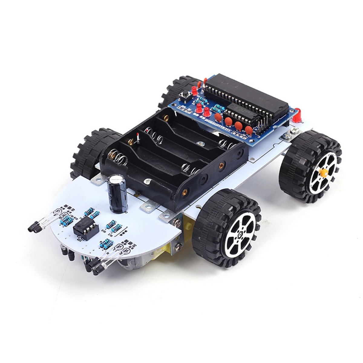 C51 DC 6V Intelligent Tracking Obstacle Car DIY Kit With Two Single Axis Gear Motor Drives Electronics Production Machinery Gift