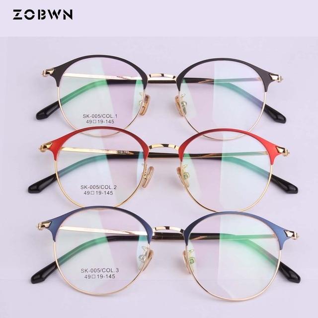 686b58c102d wholesale Fashion Women round EyeEyeglasses Frame Men Optical Glasse Frame  Retro Eyeglasses Computer Glasses Transparent glasses
