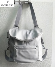 Original Caker Brand Genuine Leather Backpack Women Grey Shoulder Bags Lady Preppy Style Top Fashion Back To School Bags 2017