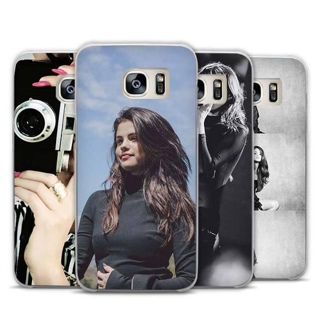 Selena Gomez Transparent Phone Case Cover for Samsung Galaxy S3 S4 S5 S6 S7 Edge Plus Mini
