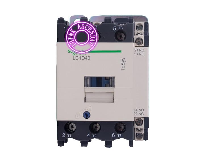 LC1D Series Contactor LC1D40 LC1D40B7 LC1D40C7 LC1D40CC7 LC1D40D7 LC1D40E7 LC1D40EE7 LC1D40F7 LC1D40FC7 127V / LC1D40FE7 115V AC new cad50bdc dc24v tesys d series contactor control relay 5no 0nc