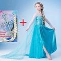 Elsa vestido 2016 traje para as crianças vestido de festa de Carnaval Cosplay Anna elza traje vestido de festa meninas roupa infantil disfraz