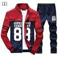 Мужчины костюм люксовый бренд спортивный костюм мужчины 2016 sportsuits мода мужчины jogger костюмы зима прохладный штаны толстовки мужская одежда