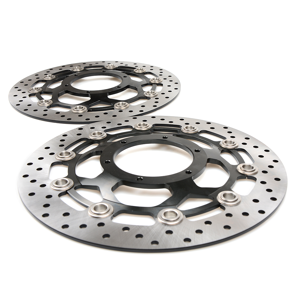 new motorcycle Aluminum alloy inner ring & Stainless steel outer ring Front Brake Disc Rotor For HONDA CB1300 03-10 CBR600 03-06 cyt alloy steel motorcycle engine valve for honda cg200 dark grey pair