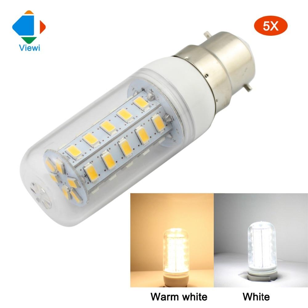 Viewi 5x Lampadine E12 E14 E27 B22 G9 Gu10 Lampe Led Lights 110v