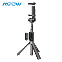 Купить с кэшбэком Mpow 3 in 1 Wireless Bluetooth Selfie Stick Mini Tripod Stand Extendable Monopod Universal For iPhone XR X 7 6s Plus For Samsung