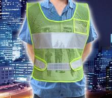 Hot gross sales breathable fluorescent mesh reflective security vest with small pocket building of reflective clothes printable