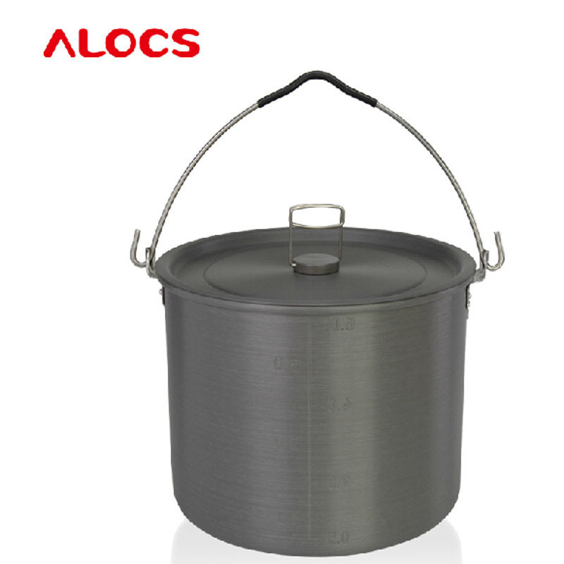 Alocs Brand outdoor Authentic 4 - 6 hanging people pot camping driving camp Kettle meal pot Picnic Equipment Hiking Set CW-RT03 пиджак mango man mango man he002emtsn13