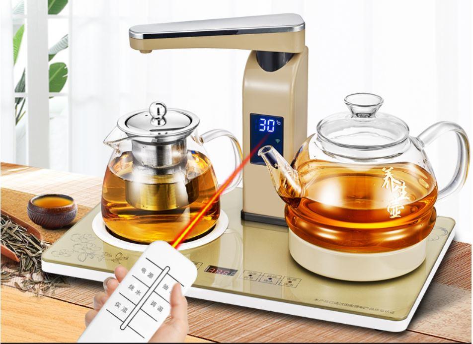 Elevou pote de vidro com-cozido chá caldeira de água automático aquecedor