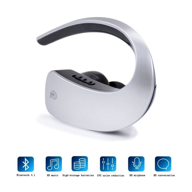 Mini Wireless Noise Cancelling  Bluetooth Headset 4.1 Earphone Universal for iphone
