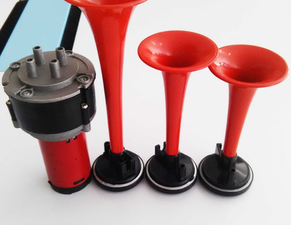 Trompeta Musical Electronic 3x Red Air Horn Compose Car Truck Boat - Autopartes - foto 4