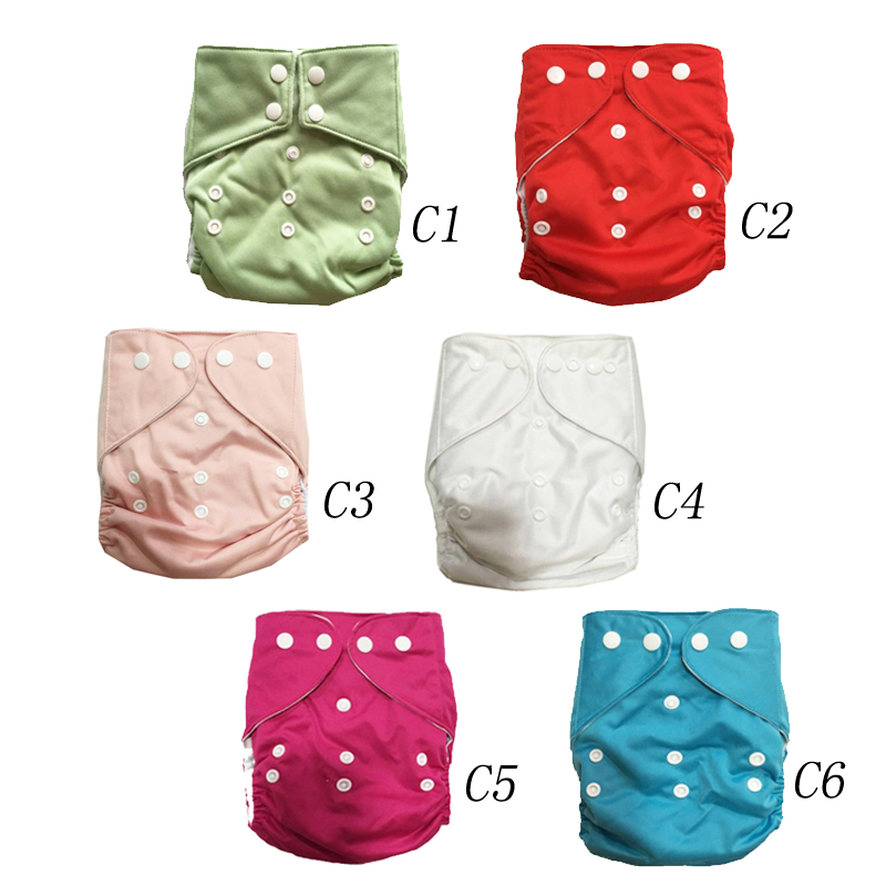 Adjustable Washable Insert Baby Cloth Diapers Reusable Nappy Infant