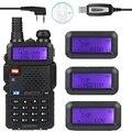 Baofeng УФ-5R 136-174/400-520 МГц Dual Band 2 М/70 см FM Высокой Мощности 8 Вт Двухстороннее Хэм Приемопередатчик + Кабель для Программирования UV-5RTP