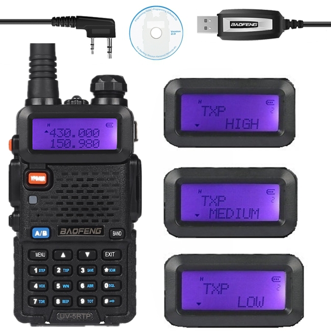 bilder für Baofeng UV-5R TP 136-174/400-520 MHz Dual Band 2 Mt/70 cm FM High Power 8 Watt Two Way Amateurfunkgeräte Programmierkabel UV-5RTP