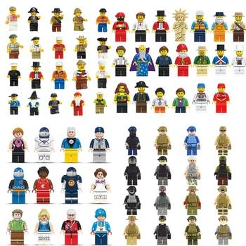 20 pcsLot City Character Action Figure Building Blocks Sets Bricks Classic Model Kids DIY Toys Gift Marvel Compatible Legoings 21035 lego