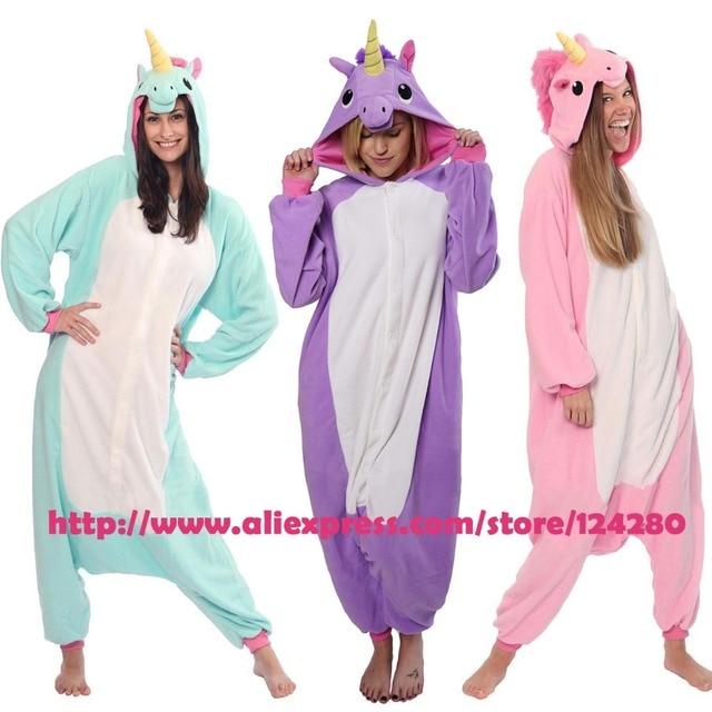 NEW 2016 Cartoon My Little Pony Purple Unicorn Onesies Adult Tracksuit Animal Cosplay Pyjama Pajamas for Halloween Christmas