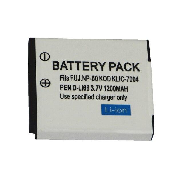 1200mAh NP 50 FNP50 NP50 KLIC 7004 D Li68 Batteria per Fujifilm X10 X20 XF1 F50 F75 F665 F775 F900 EXR F505 f305 F85 F200 F100