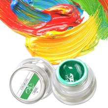 Набор для ногтевого дизайна(Цвета 3D Нейл-арт краска, цветной гель рисовать Краски ing акриловые Цвет УФ-гель наконечник 12 Цветов Краски ing гель лак для ногтей