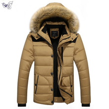Plus Size M~4XL 5XL Men Winter Fleece Fur Warm Thick Jacket Cotton Soft Military Parka Jacket Men Detachable Hood Coat Jacket