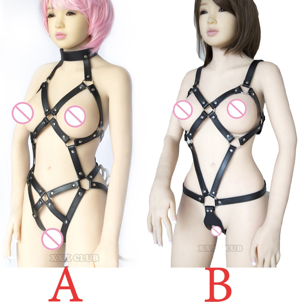 Adult Games Body Harness Sexy Lingerie For Women Fetish Chastity Costumes Slave Bondage Restraints,exposed Breast Sex Products