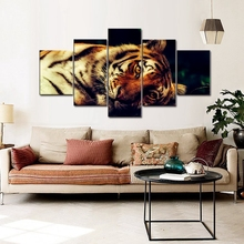 A Leisurely Tiger Beautiful Cool Animals Canvas Painting Home Decor Wall Art Paintings for Living Room Posters and Prints