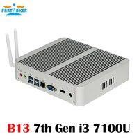 In Stock Intel Core I5 7200U I3 7100U 7th Gen Kaby Lake Win10 Fanless Mini PC