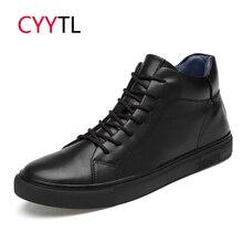 CYYTL/брендовая мужская кожаная обувь; высокие модные кроссовки; мягкие мужские зимние теплые лоферы; Zapatos de Hombre Zapatillas; повседневная обувь