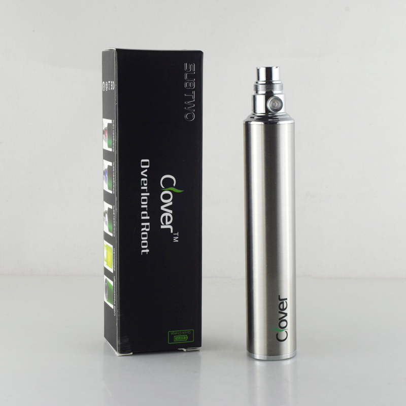 10PCS Clover Electronic cigarette battery 2600mAh USB Clover Root 510 thread VS ego-t battery E Cigarette Battery