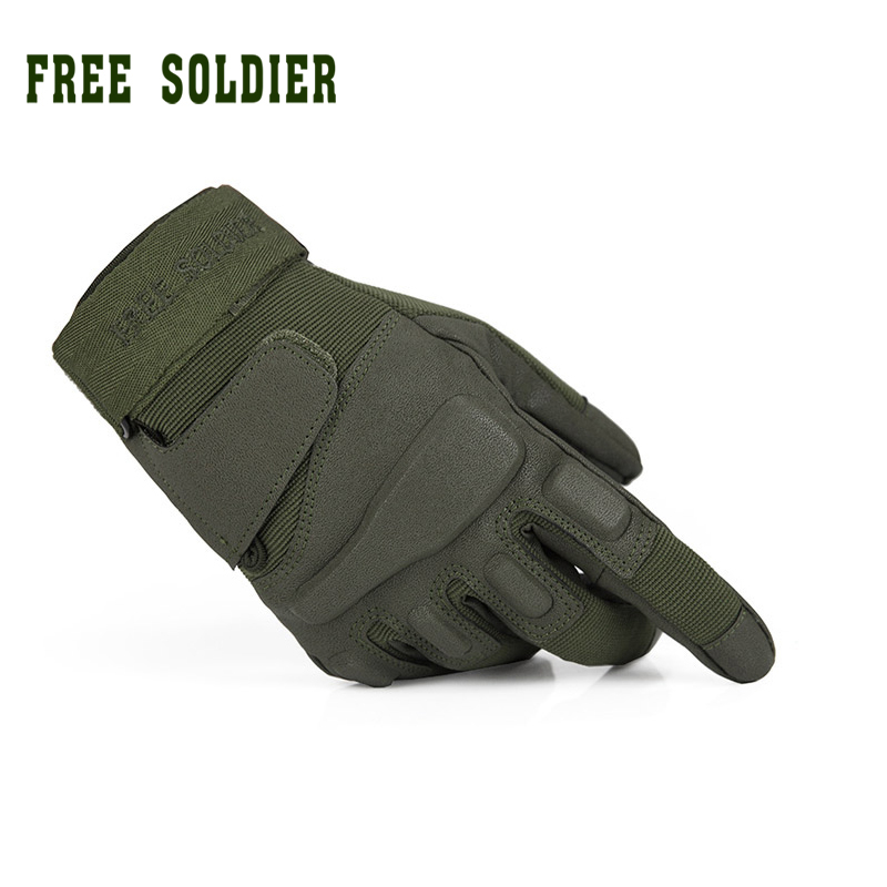 FREE SOLDIER outdoor sports men's half finger full gloves for riding climbing training tactical gloves Cycling gloves oumily the second generation outdoor tactical half finger gloves gray black size xl pair