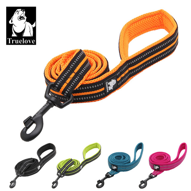 Truelove Soft mesh Nylon Double Trickness Dog Leash Running Reflective safe Walking Training Pet Dog Lead leash Stock 200cm hot