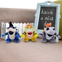 "5 ""11 cm Super Mario Bros Bowser Koopa Kuba dragón oscuro Bowser peluche juguetes de peluche con PVC caja niños regalo"