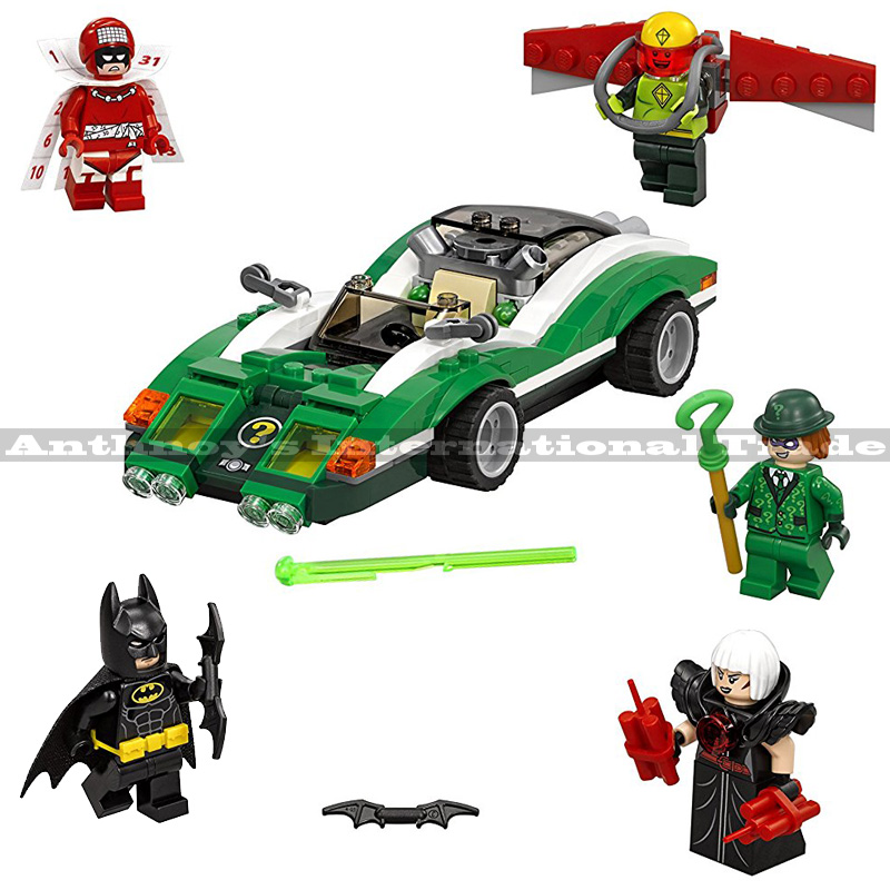 Lepin 07059 Genuine Batman Movie Series The Riddler Riddle Racer Set 70903 Building Blocks Bricks Education Toys 282PCS