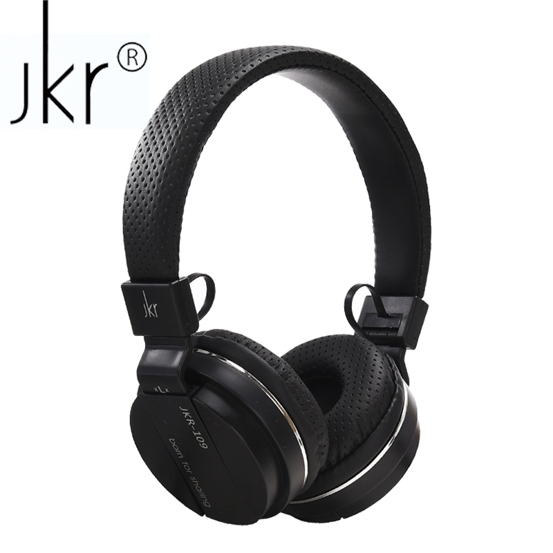 JKR 109 Foldable Noise Cancelling Headset Wired Stereo HiFi Music Headphones with 3.5MM Plug Microphone Earphone for Phone PC ditmo dm 4900 foldable wired 3 5mm plug stereo headset headphones w microphone for iphone 5 white
