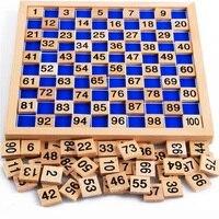 לוח עץ צעצועי מתמטיקה מונטסורי מונטסורי חומרים oyuncak צעצועים החינוכיים לילדים לוח דיגיטלי אבקוס w078