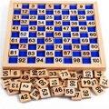 Tabla de madera Montessori matemáticas material didáctico juguetes materiales Montessori oyuncak juguetes educativos para niños tablero digital ábaco W078