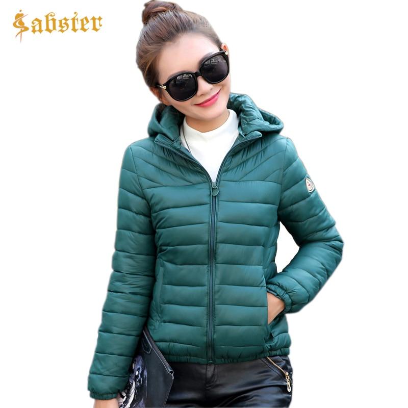 New Spring Women   Parka   Coat Winter Warm Jacket Women Outerwear Hooded Slim Short Padded Jacket Plus Size L-4XL