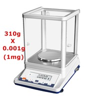 310X0.001g 1mg LCD 디스플레이 실험실 측정 장비/전자 분석 저울