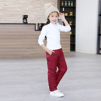 Fashion Warm Winter Boys Pants Teenager Girls Trousers Cotton Padded Waterproof Solid Children Pants Kids Clothing Bebes 2 11T