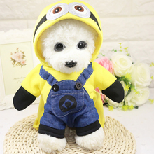 Купить с кэшбэком Funny Dog Clothes Cool Pet Costume Suit Puppy Clothes Dog Coat Pet Clothing For Dog Costume Chihuahua Outfit Minions Pet Suit
