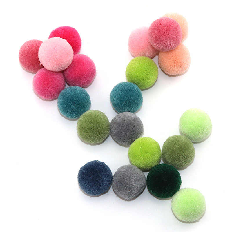 Wholesale 5PCS 2.5MM Fluffy Pompom Cashmere Fur Ball For Women Bag Dress Scarf Girls Pom Pom Ball Accessories For Jewelry Making