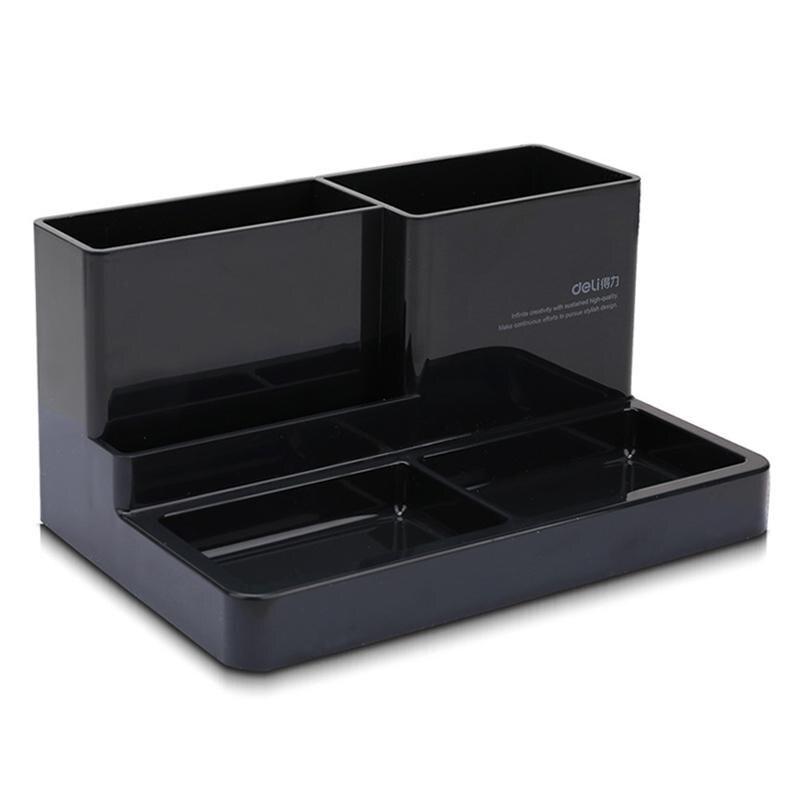 Держатель для канцелярских принадлежностей, аксессуары для стола, резиновая коробка для ног, держатель для канцелярских принадлежностей, канцелярские товары, органайзер для стола - Цвет: small black