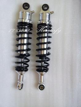 7mm spring universal 1 Pair 320mm Motorcycle Dirt Bike Rear Suspension Air Shock Absorber New Chrome silver & Black Мотоцикл