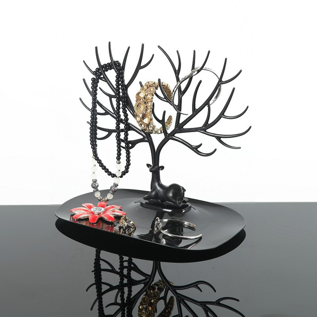 Jwelry Organizer Necklace Earring Deer Stand Display Jewelry Holder Show Rack Display Key Charms Holder Storage Rack DROPSHIP