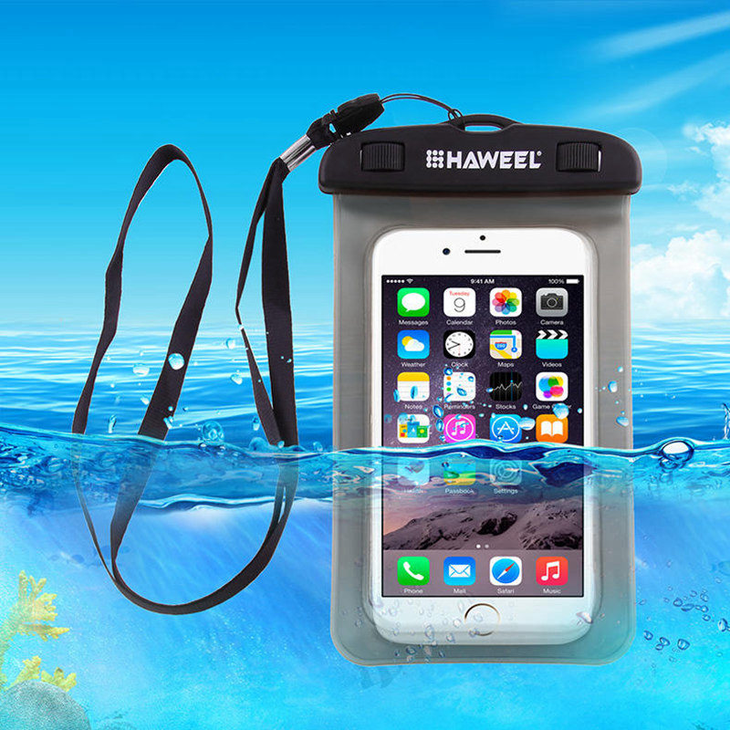 HAWEEL Universal Waterproof Case Clear Transparent Dustproof Dry Bag <font><b>Pouch</b></font> for iPhone 7 6S Plus for Up To 6 Inch <font><b>Smartphones</b></font>